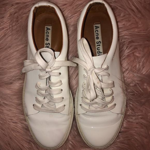 Acne Studio's Drihanna Platform Sneakers: White